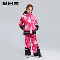 WHS hot sale New girls snow suits kid ski sports jacket teenage windproof waterproof Keep warm coat skiing jacket for Winter 4