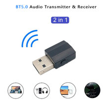 BT600 2 en 1 receptor Bluetooth BT 5,0 transmisor adaptador Bluetooth Adaptador de Audio para TV PC auriculares teléfono móvil MP3 jugador