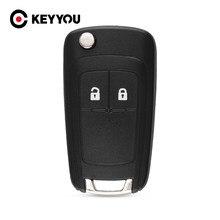 KEYYOU – coque de clé de voiture à rabat avec vis, pour OPEL VAUXHALL Zafira Astra Insignia Holden, étui pour clé télécommande à 2 boutons