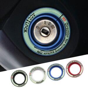 DAEFAR coche encendido interruptor de llave anillo cubierta agujero círculo de fibra de carbono pegatinas para Focus 2 MK2 3 MK3 MK4 Kuga el Everest