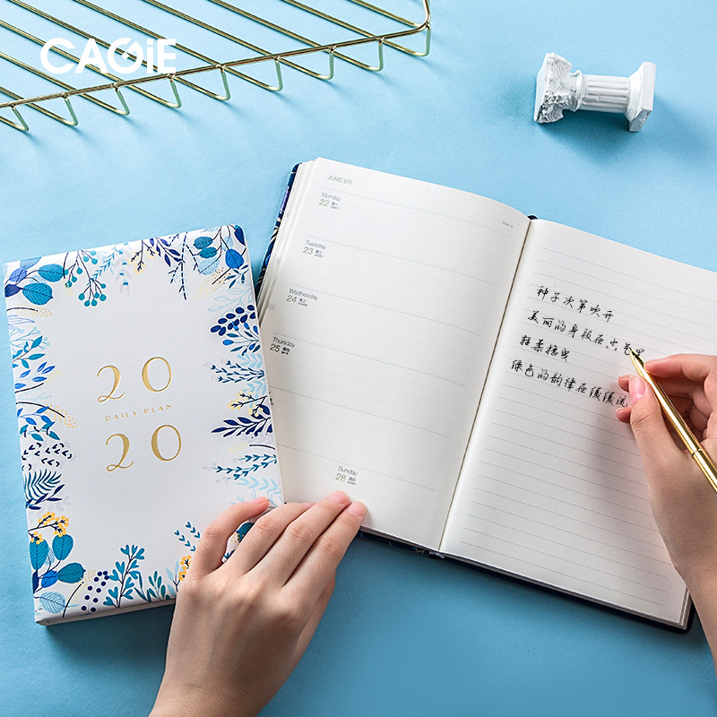 Image 3 - Notebook Flower 2020 2019 A5 Meeting Annul Daily Pad Planner Memo Planning Organizer Agenda School Office schedule Stationary-in Notebooks from Office & School Supplies