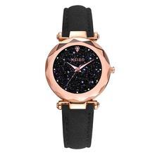 лучшая цена Luxury Diamond Women Watches Fashion Casual Starry Sky Watch 2019 Elegant Ladies Quartz Leather Wristwatches Female Clock