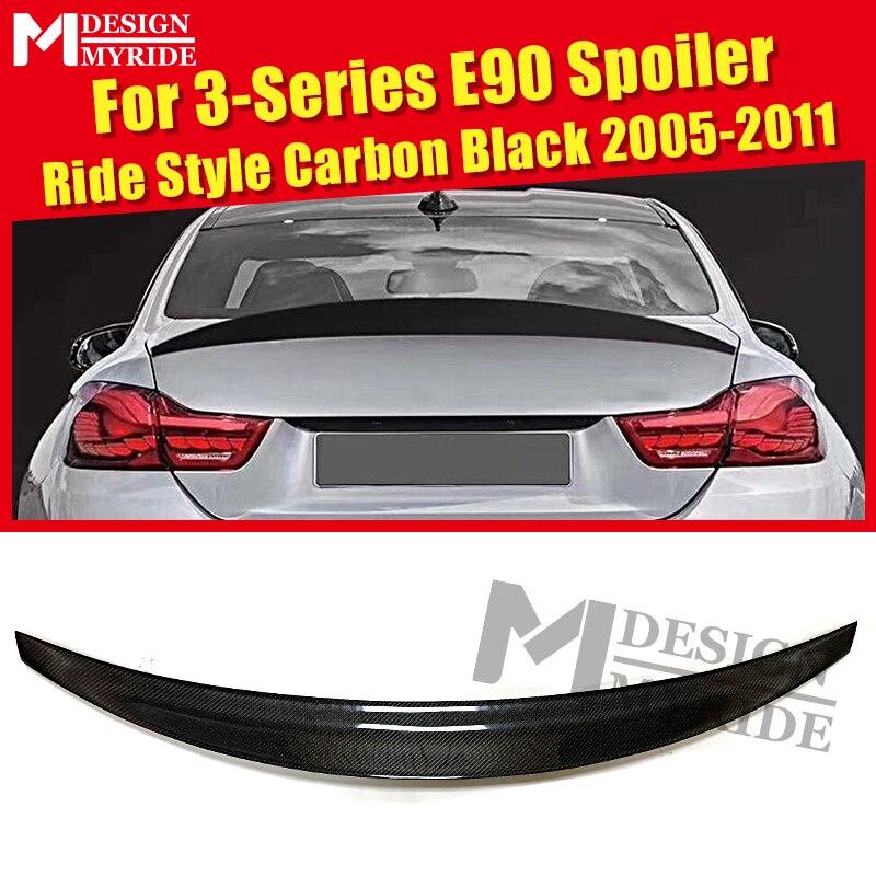 For BMW 3 Series E90 Sedan Carbon Fiber CF Trunk Spoiler Wing Ride Style 323i 325i 328i 330i 335i Rear Wing Spoiler 2005 2011|Spoilers & Wings| |  - title=