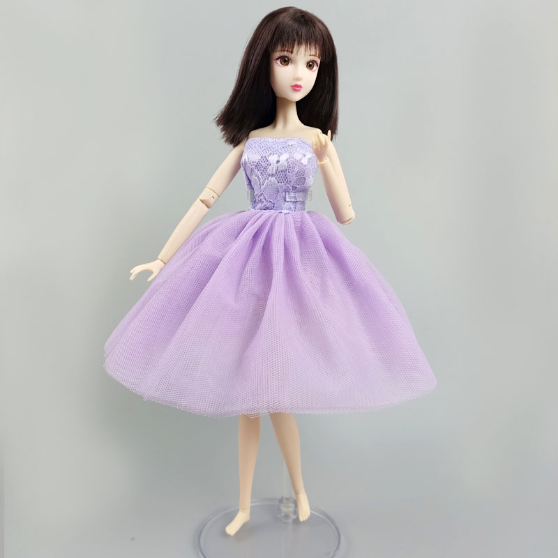"""Light Purple Floral Fashion Ballet Dress For 11.5/"""" Doll Outfits 1//6 Accessories"""