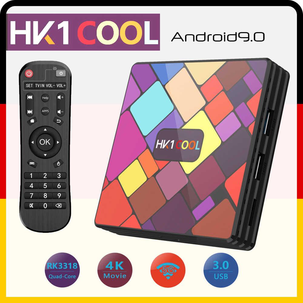 HK1 COOL Android 10 RK3318 Quad Core 4GB/32/64/128GB 4K 2.4G/5G Wifi BT Neflix YoutubeชุดPK H96 HK1 MAX