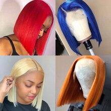 Beaudiva colorido perucas de cabelo humano 12