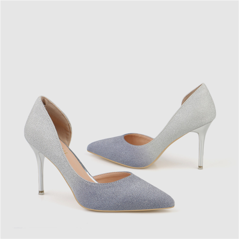 Europe Style Autumn And Spring New Gradient Color Super High Heeled Shoes Ladies Stiletto Heels F12002