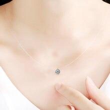 Простое дизайнерское женское ожерелье прозрачная невидимая леска