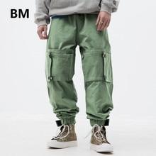 2020 High Quality Japanese Streetwear Men Clothing Hip Hop Joggers Harajuku Fashion Cargo Pants Kpop Korean Style Clothes Male