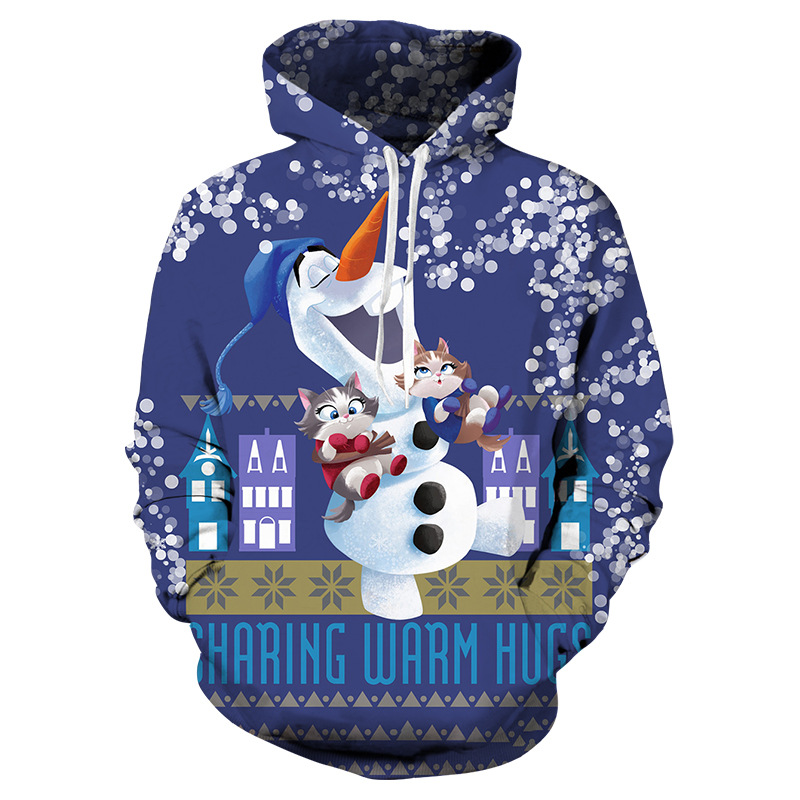 Sweatshirt Kids Hoodie Christmas-Snowman Winter Clothing 3d-Printing Girl Fashion Children's