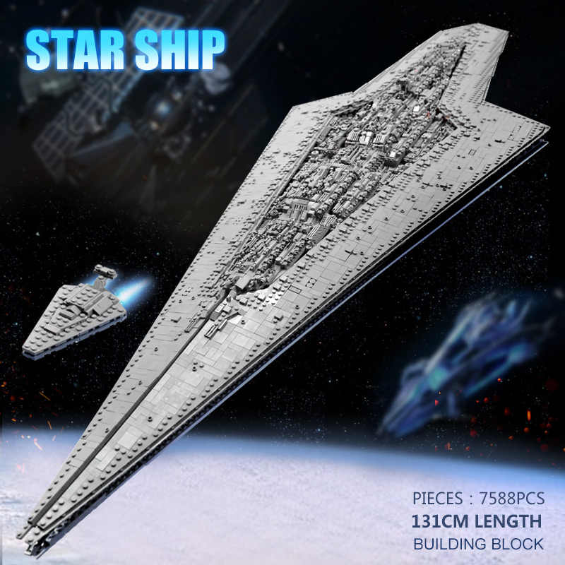 05028 Звездные игрушки, войны, совместимые с Lepining, MOC-15881, исполнительный класс, Звездный Дредноут, Звездный разрушитель, строительные блоки, подарок для детей