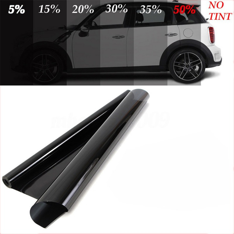 Car Window Hot VLT Black  Tint Tinting Film For A Car Glass Vinyl Roll Stickers Scratch Resistant Home House PET Solar Protectio