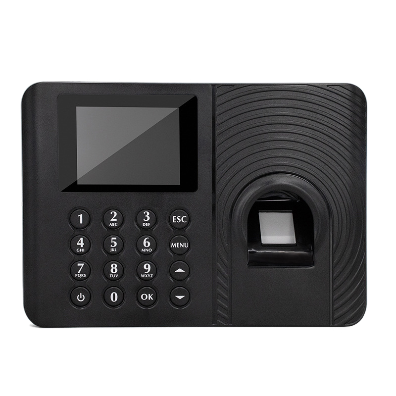 HOT-A10 Fingerprint Time Attendance System Clock Recorder Employee Recognition Recording Device Electronic Machine(US Plug)