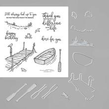 Metal Cutting Dies and Rubber Stamps Scrapbooking FISHING BOAT Craft Die Cut Stencil Card Make Album Sheet Decoration jc rubber stamps and metal cutting dies scrapbooking craft house pet dog s home stencil for card making album sheet decoration