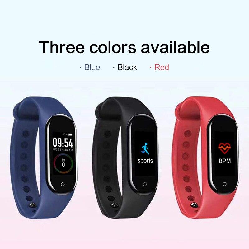M4 Plus Smart Pedometer Photo Upload Music Wristband Fitness Running Walking Tracker Heart Rate Smart Bracelet Pedometer
