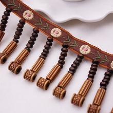 1Yards/Lot Copper Tassel Lace Ribbon Fabric Silk Fringe Trim Tassels for Jewelry Diy Sewing Curtain Clothing Accessories