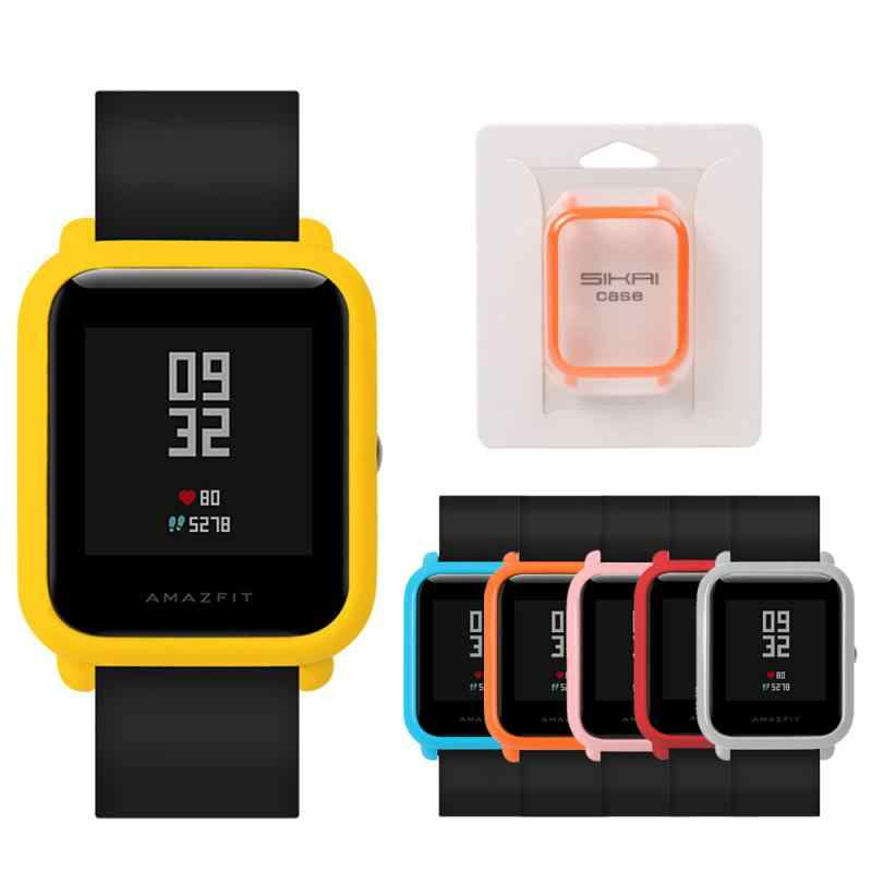 Slim Colorful Fashion watch Frame PC Case Cover Protect Shell For Xiaomi Huami Amazfit Bip Younth Watch Case Cover free shipping