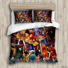 luxury  duvet  room bedding set  Monkey D. Luffy With his friends duvet cover set  comforter bedding sets  queen bedding set bedding set полутораспальный exotica 584