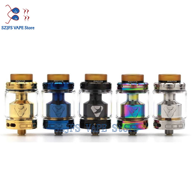 ADVKEN Manta RTA 24MM 3.5ml Rebuildable Tank Atomizer With 5ml Extend Glass Top Filling 810 PEI Drip Tip Airflow Adjustable Thc