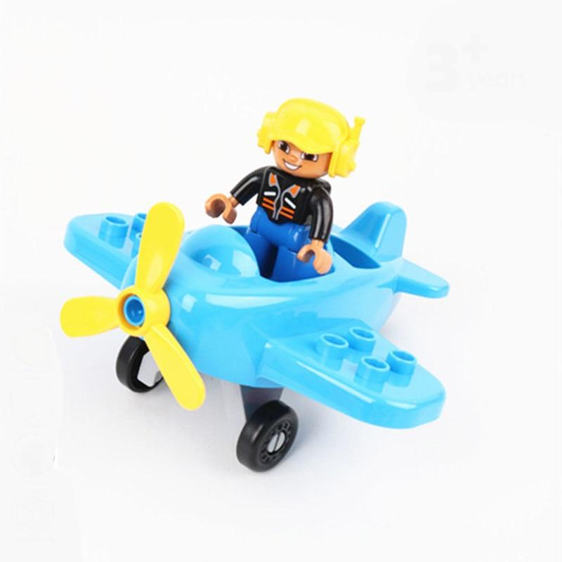 Big Size Diy Building Blocks Compatible With Duploed Bricks Animal Sofa Accessories Building Blocks Sets Toys For Children Gift