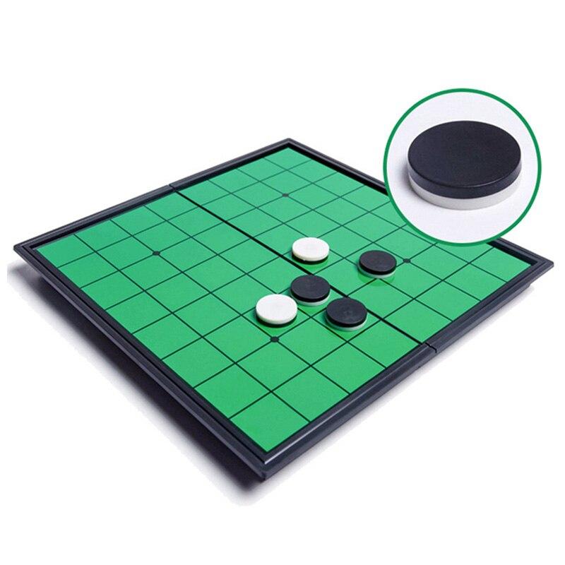 Magnético portátil dobrável reversi othello placa xadrez