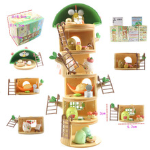 ילד צעצועי אנימה Sumikko Gurashi עץ גדם בית חופשת בובות Sumikko Gurashi PVC פעולה איור דגם צעצועים חינוכיים מתנות