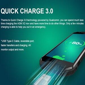 Image 4 - AGM X2 Водонепроницаемый смартфон с 5,5 дюймовым дисплеем, восьмиядерным процессором NFC, ОЗУ 6 ГБ, ПЗУ 64 ГБ, 128 ГБ, 6000 мАч