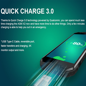"""Image 4 - Agm X2 頑丈な IP68 MIL STD 810G 防水電話 6000 mah 急速充電 6 グラム + 64 グラム/128 ギガバイトの携帯電話 5.5 """"オクタコア 16MP nfc スマートフォン"""