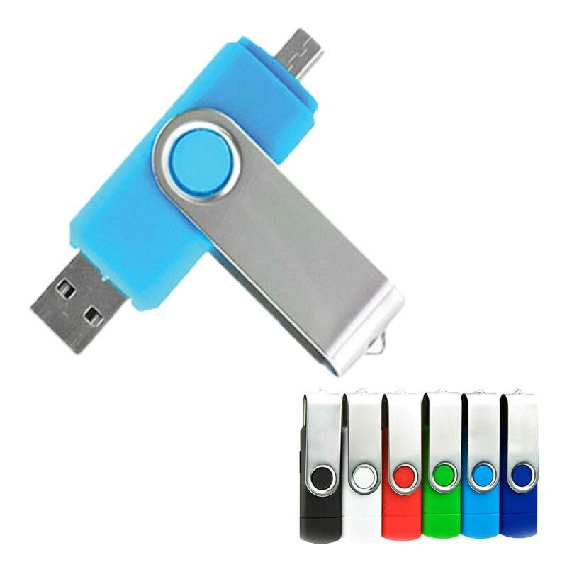 High Speed OTG USB Flash Drive 64gb 128gb Pen Drive 8gb 16gb 32gb Pendrive Usb 2.0 For Smartphone Micro USB Stick