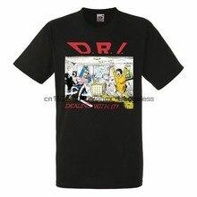D.R.I. Radzenie sobie z tym mężczyzna Unisex czarny Rock T-shirt nowe rozmiary S-XXXL