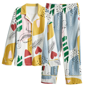 Image 3 - BZEL Hot البيع الخريف الشتاء ملابس خاصة القطن السيدات منامة مجموعة طويلة الأكمام المقالي داخلية جميلة ملابس النوم بيجامة M 4XL
