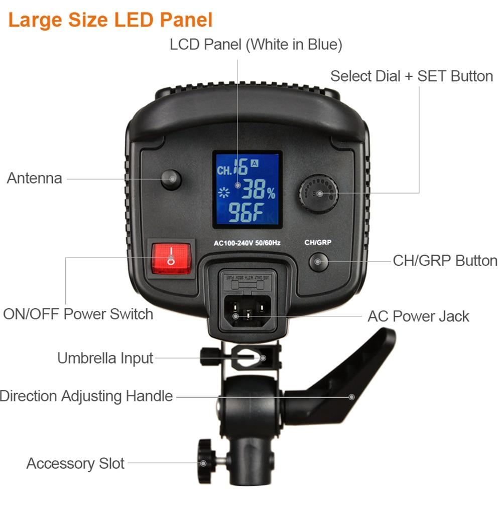 Godox SL-150W 150WS 5600K White Version LCD Panel LED Video Light Continuous Output Bowens Mount Studio Light SL-150W