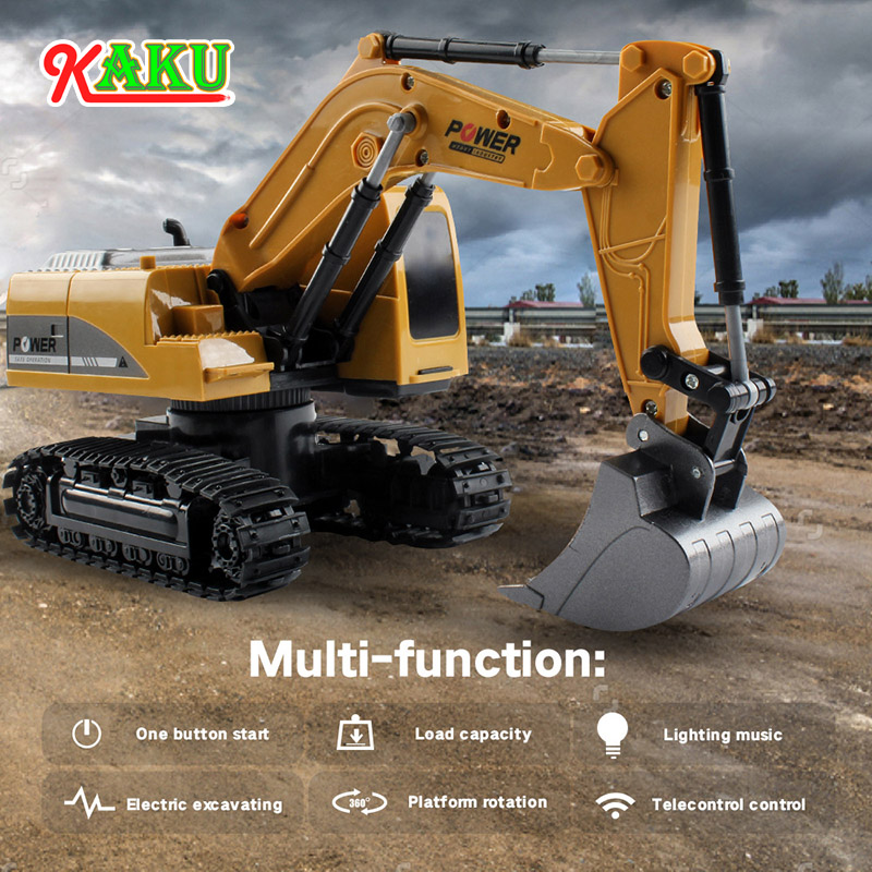 Excavator Toy Crawler-Drive 4-Wheel Remote-Control Children Gift Alloy 1:24 Kids