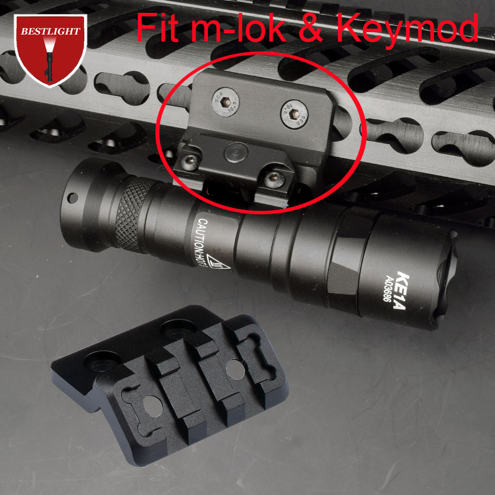 Tactic Airsoft M-LOK/Keymod Offset Light Optic Picatinny Rail Mount for Tactical Scout Flashlight Accessories(China)