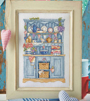 S282 blue cabinet precise printing cross stitch embroidery kits Top Quality Lovely Hot Sell Counted Cross Stitch Kit