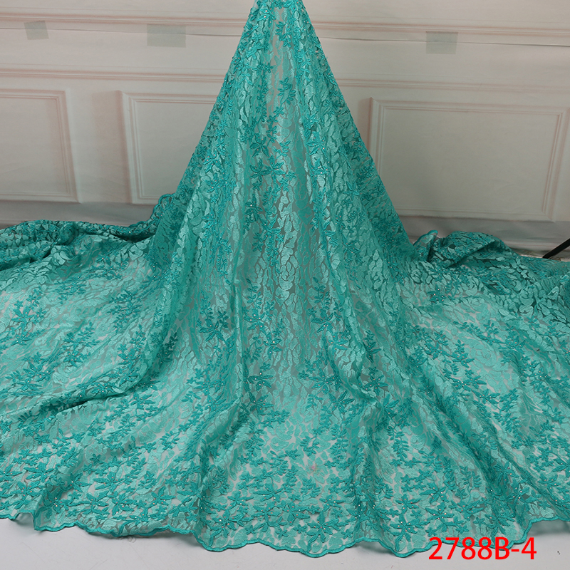 African French Lace Fabric 2019 High Quality Lace Gold Cord Lace Fabric Embroidery Guipure Net Lace Fabric For Wedding YA2788B-4
