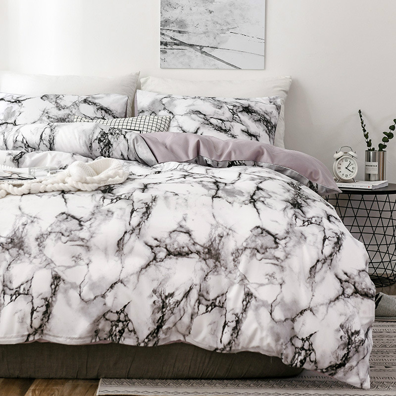 Marble 3D Pattern Designer Beddings And Bed Sets Twin Double Queen Quilt Duvet Cover Comforter Beding Set Luxury Beddingoutlet