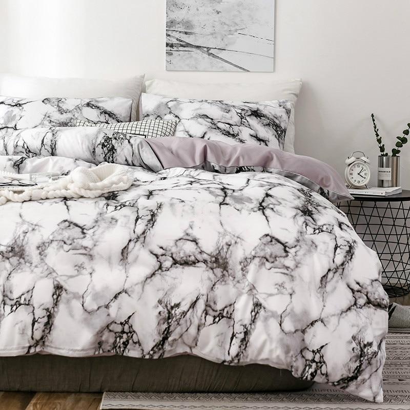 Marble 3D Pattern Designer Beddings And Bed Sets Twin Double Queen Quilt Duvet Cover Comforter Beding Set Luxury Beddingoutlet
