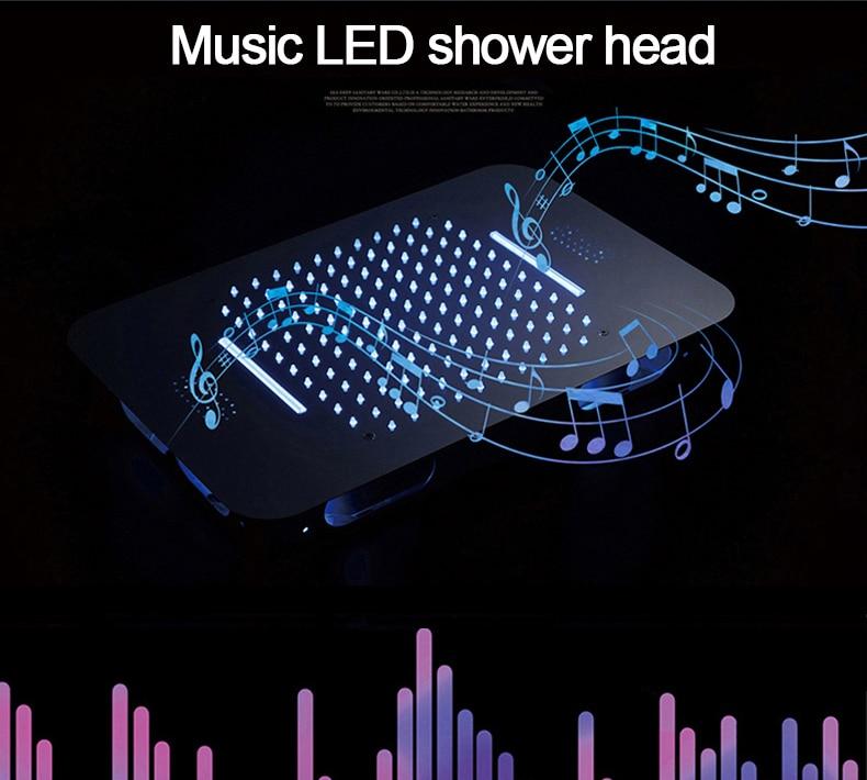 H388afe89597d4898bd6ba719e562ec4d6 M Boenn Music Shower System Rain ShowerHeads LED Shower Set Bathroom Faucet Thermostatic Valve Matte Black/Chrome Bath Mixer Tap
