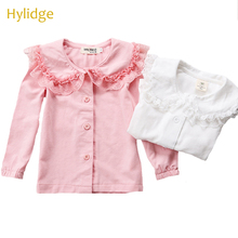 Shirt Blouses Baby-Girl Lace Toddler Tops Tee Ruffles-Collar Long-Sleeves Hylidge Sweet
