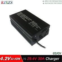 29,4 в 30A умное зарядное устройство для 7S lipo/литий-полимерный/литий-ионный аккумулятор, интеллектуальное зарядное устройство, поддержка CC/CV режима 4,2 в* 7 = 29,4 в