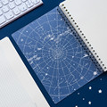 A5 B5 80 лист книга со спиралью катушки ноутбука лазерная крышка звездная серия сетка линия Корнелл бумажный журнал дневник Sketchbook канцелярски...