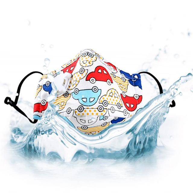 3pcs/set Kids Cartoon Printing Mouth Masks Dustproof Washable PM2.5 Filter Mask Mouth Cover With Filter Pad Clothing Accessories 4