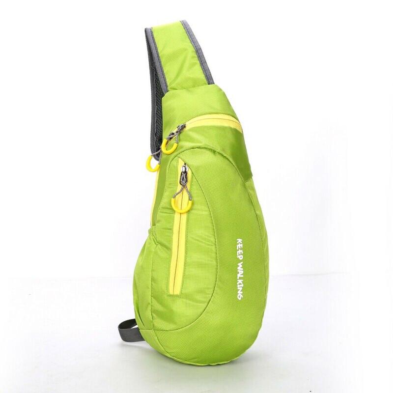 Men Nylon Crossbody Shoulder Bag Chest Cycle Sling Pack Daily Travel  Male Solid Waist Packs Chest Belt Bags