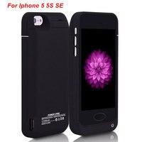 Para o iphone 5 5S se bateria caso 4200 mah carregador caso telefone inteligente capa power bank para iphone 5 bateria caso Estojos p/ carregador de bateria     -
