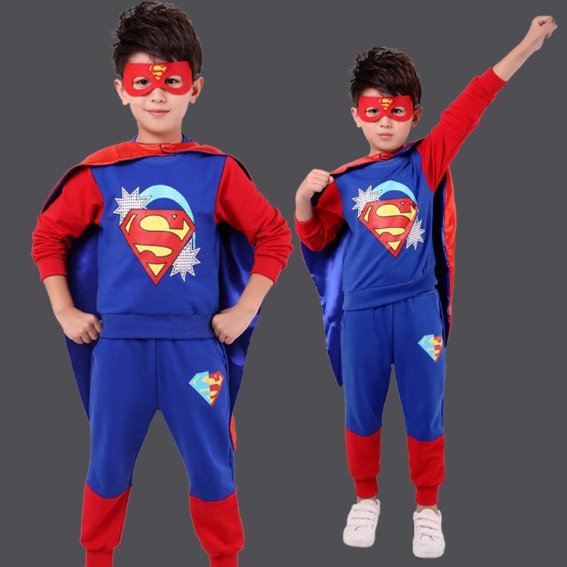Halloween Superman Clothing CHILDREN'S Costume Performance Wear Men's Cosplay Superman CHILDREN'S Suit Kids Fashion