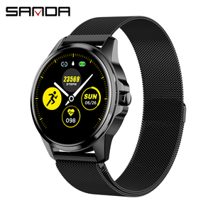 Image 1 - SANDA Full Touch Luxury Men Smart Watch Waterproof Sport Pedometer Fitness Tracker Heart Rate Monitor Women Clock Smartwatch