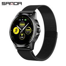 SANDA Full Touch Luxus Männer Smart Uhr Wasserdichte Sport Schrittzähler Fitness Tracker Heart Rate Monitor Frauen Uhr Smartwatch