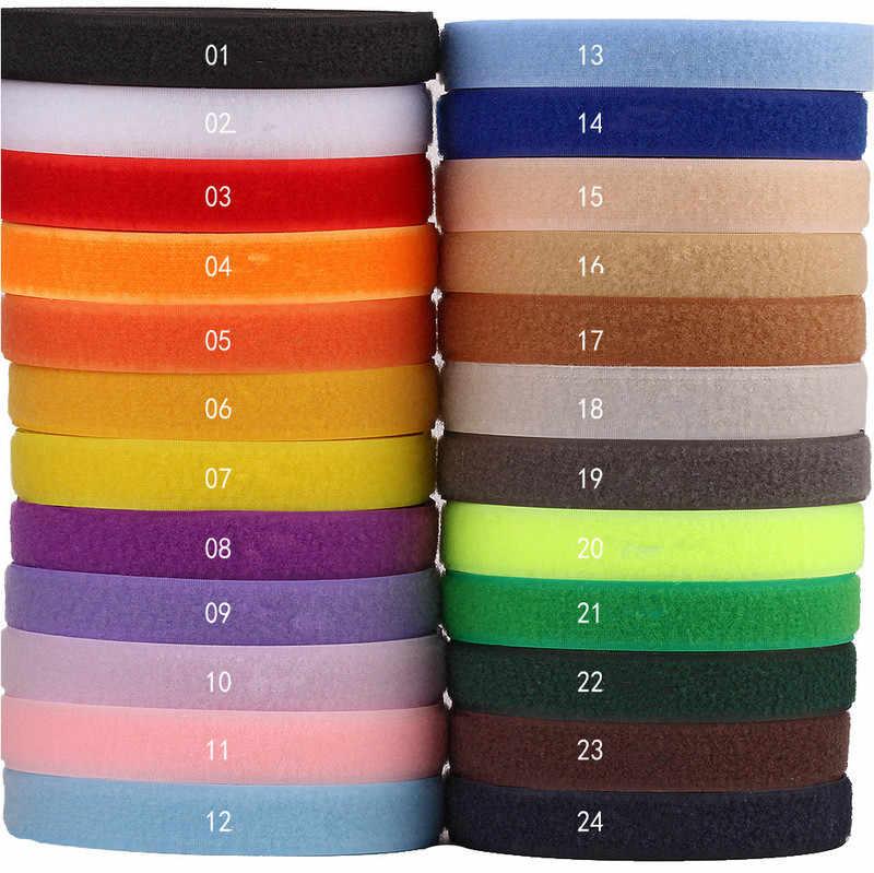 Velcros 2cm 2 Metros Par Colorido Adesivo Gancho Laço Fita Adesiva Fastener Botão de Nylon Cabo Laços de Costura de Vestuário Sacos acessório