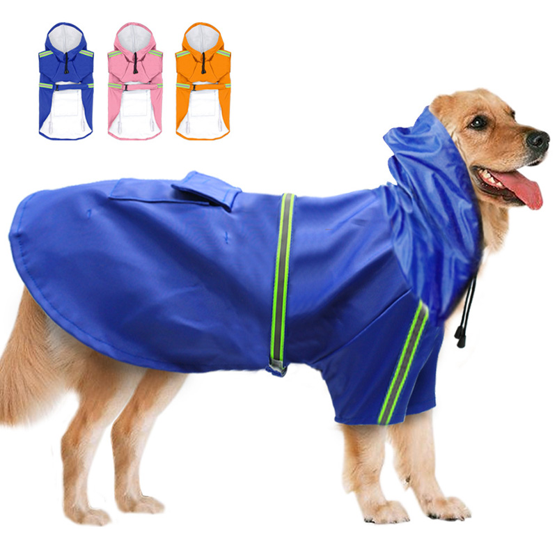 Waterproof Dog Raincoat Impermeable Large Dog Rain coat Jacket Reflective Pet Rain Coat For Dogs Pitbull labrador